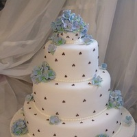 Cakes, blue, cake, Wedding, Chocolate, Eat, Them, Let, Hydrangeas