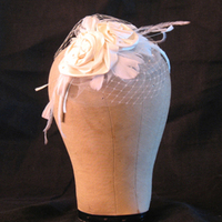 Beauty, Veils, Fashion, Headbands, Feathers, Roses, Veil, Wedding, Bridal, Birdcage, Couture, Headband, Silk, Millinery, Veiling, Feather Wedding Dresses, Silk Wedding Dresses
