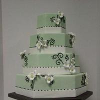 Flowers & Decor, Cakes, ivory, green, brown, cake, Flowers, Hexagon, Dogwood, Sweet cakes by rebecca