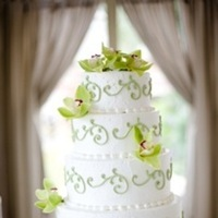 Cakes, ivory, green, cake, Orchid, 36th street events