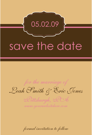 pink, brown, Wedding, Bridal, Rsvp, The, Save, Date, You, Thank, Shower, Std, Simply so stylish