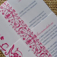 Stationery, pink, blue, Invitations, Wedding, And, Damask, Jessicas design shop
