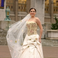 Veils, Fashion, Veil, And, Floral, Corset, A, With, Cathedral, Top, V custom design, Length, Skirt, Pick-up
