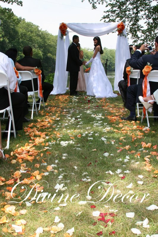 Ceremony, Flowers & Decor, Decor, Ceremony Flowers, Centerpieces, Flowers, Centerpiece, Outside
