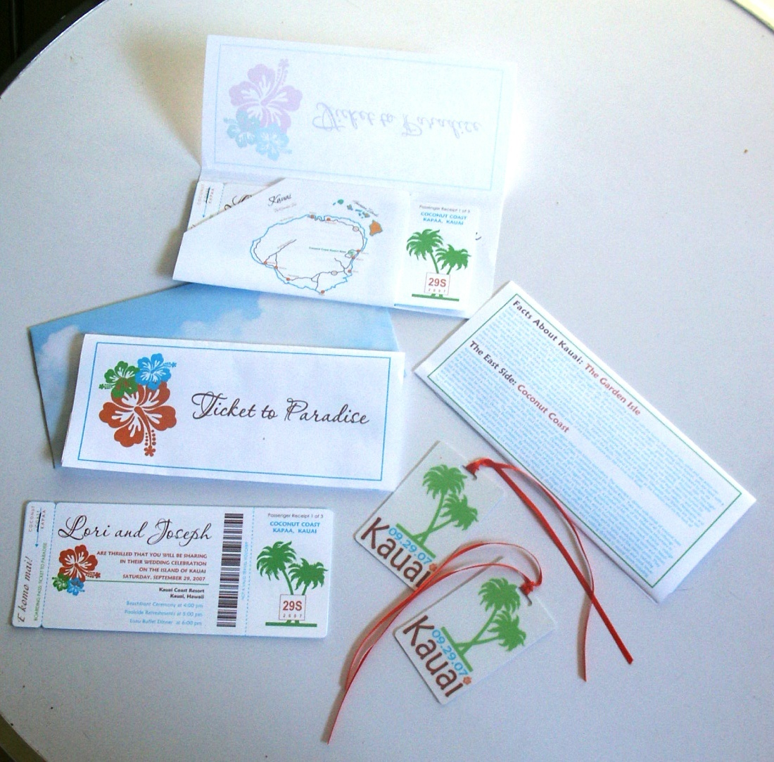DIY, Favors & Gifts, Stationery, Destinations, Paper, travel, Favors, Invitations, Wedding, Tropical, Destination