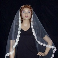Veils, Lace Wedding Dresses, Fashion, Veil, Lace, Length, Mantilla, Occansey designs, Cut, Edged, Fingertip