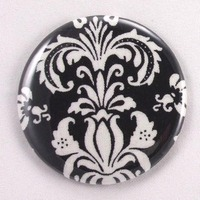 Favors & Gifts, white, black, favor, Wedding, Gift, Bridal, And, Pocket, Shower, Damask, Mirror, Flirtbuttons