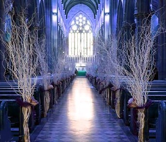 Ceremony, Flowers & Decor, Decor, white, Ceremony Flowers, Aisle Decor, Winter, Flowers, Wedding, Aisle