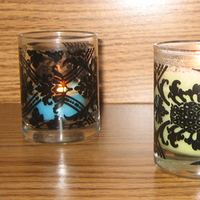 DIY, Candles, Damask, Votives