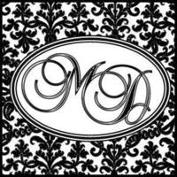 DIY, Monogram, Damask