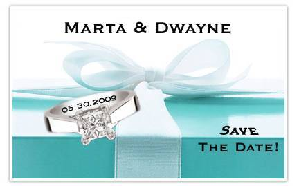 DIY, Save the date, Aqua, Damask