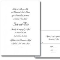Stationery, white, black, invitation, Invitations, Evy jacob