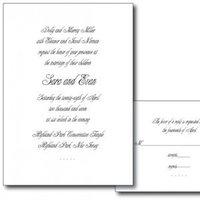 Stationery, white, black, invitation, Invitations, Evy jacob