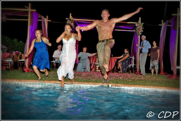 Wedding Dresses, Fashion, dress, Bride, Groom, Wedding, And, The, In, Pool, Trash, Jumping, Honolulu, Consultants, Cassandra dieterle photography