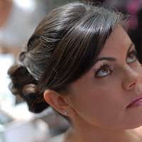 Beauty, Chignon, Classic, Bride, Low, Hair, Bridal, Asian, Dark