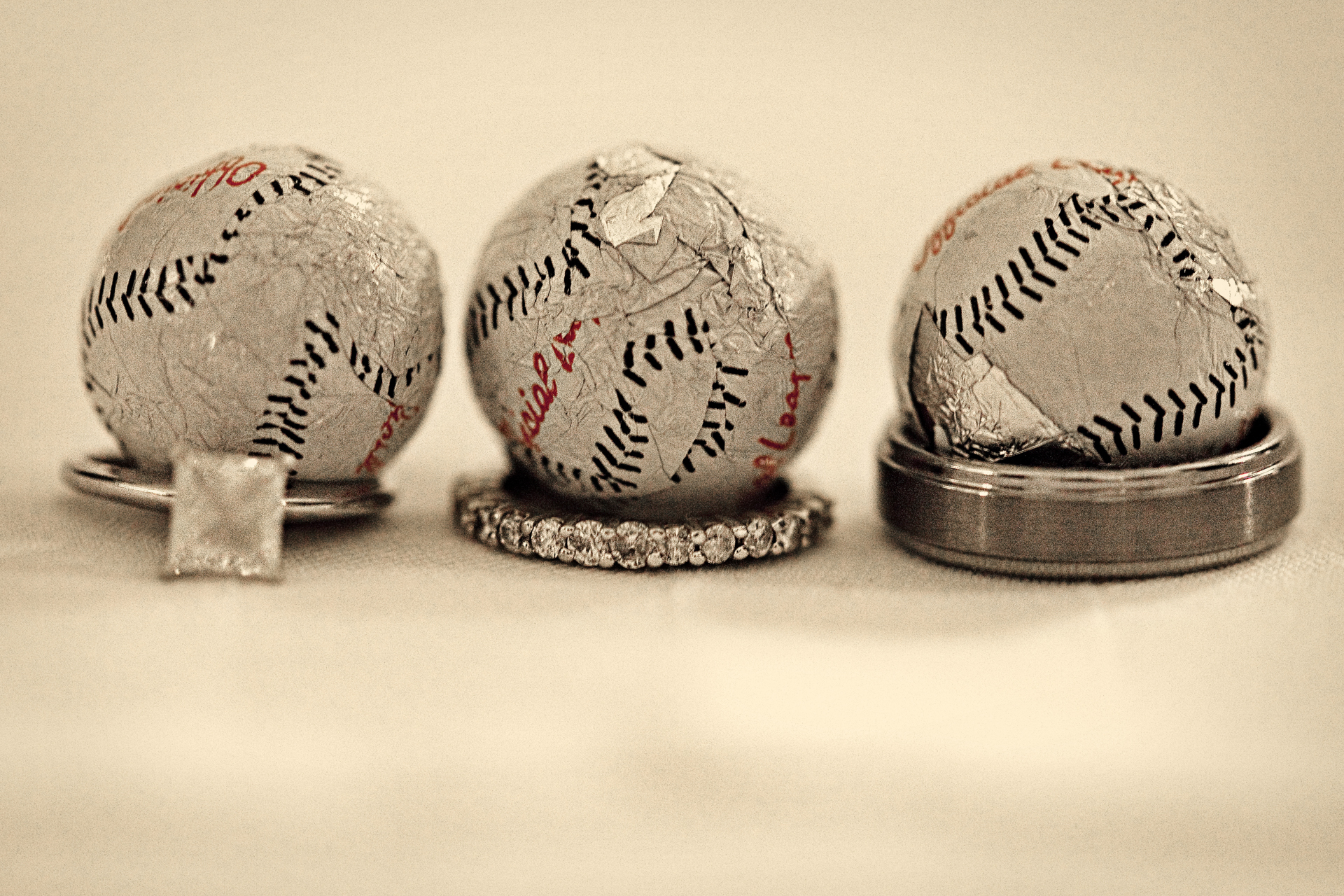 Rings, Wedding, Baseball, Peachtree studio