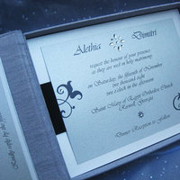 blue, silver, Classic Wedding Invitations, Couture, Swarovski crystals, Winter wedding, Navy, Paper olive, Custom wedding invitation, Silk box, Platinum weddings, Luxury invitations, Gate fold