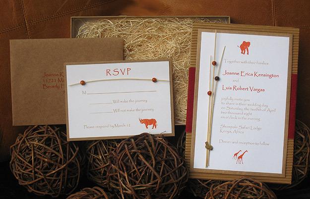 African Wedding Invitation: Safari Wedding Invitationvendors Paper Olive Letterpress