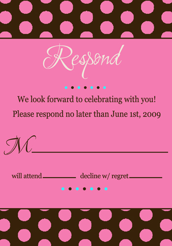 Stationery, pink, invitation, Invitations, Chocolate, Rsvp, Invite, Dots, Polka