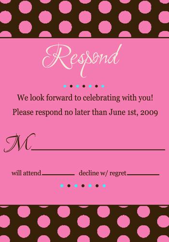 Stationery, pink, invitation, Invitations, Chocolate, Rsvp, Invite, Dots, Polka