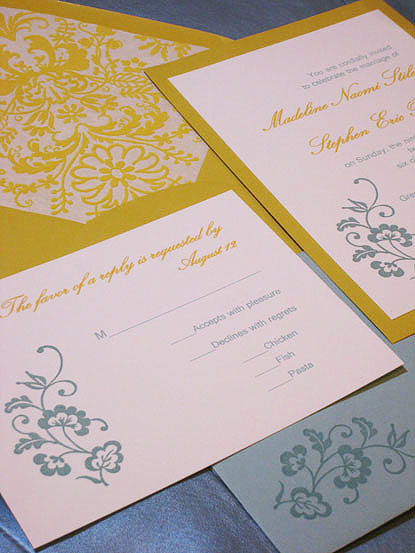 white, yellow, blue, Wedding, Aqua, Swarovski crystals, Winter wedding, Paper olive, Custom wedding invitation, Platinum weddings, Luxury invitations, Flocked paper, Envelope liner, Hand stamped, Handmade wedding invitations, Mustard