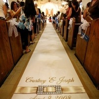 Ceremony, Flowers & Decor, Decor, Monogram, Aisle, Runner, Crystals, The original runner company