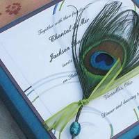 purple, blue, green, Lime, Wedding, Aqua, Peacock, Plum, Peacock feathers, Violet, Paper olive, Custom wedding invitation, Silk box, Thai silk box, Destination wedding invitations, Paper couture