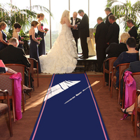 Ceremony, Flowers & Decor, Decor, blue, Monogram, Aisle, Runner, The original runner company