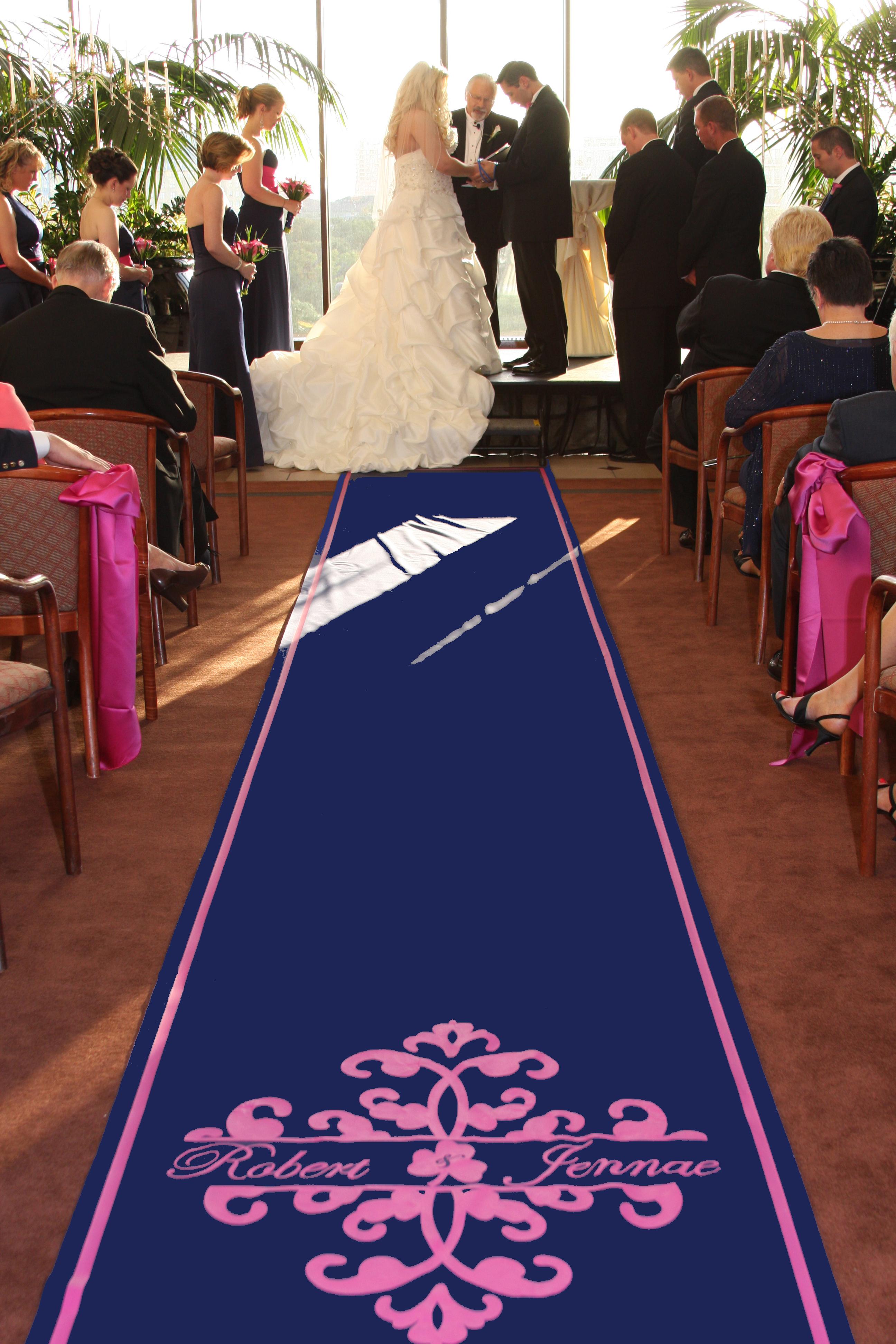Ceremony, Flowers & Decor, Decor, blue, Monogram, Aisle, Runner, The original runner company