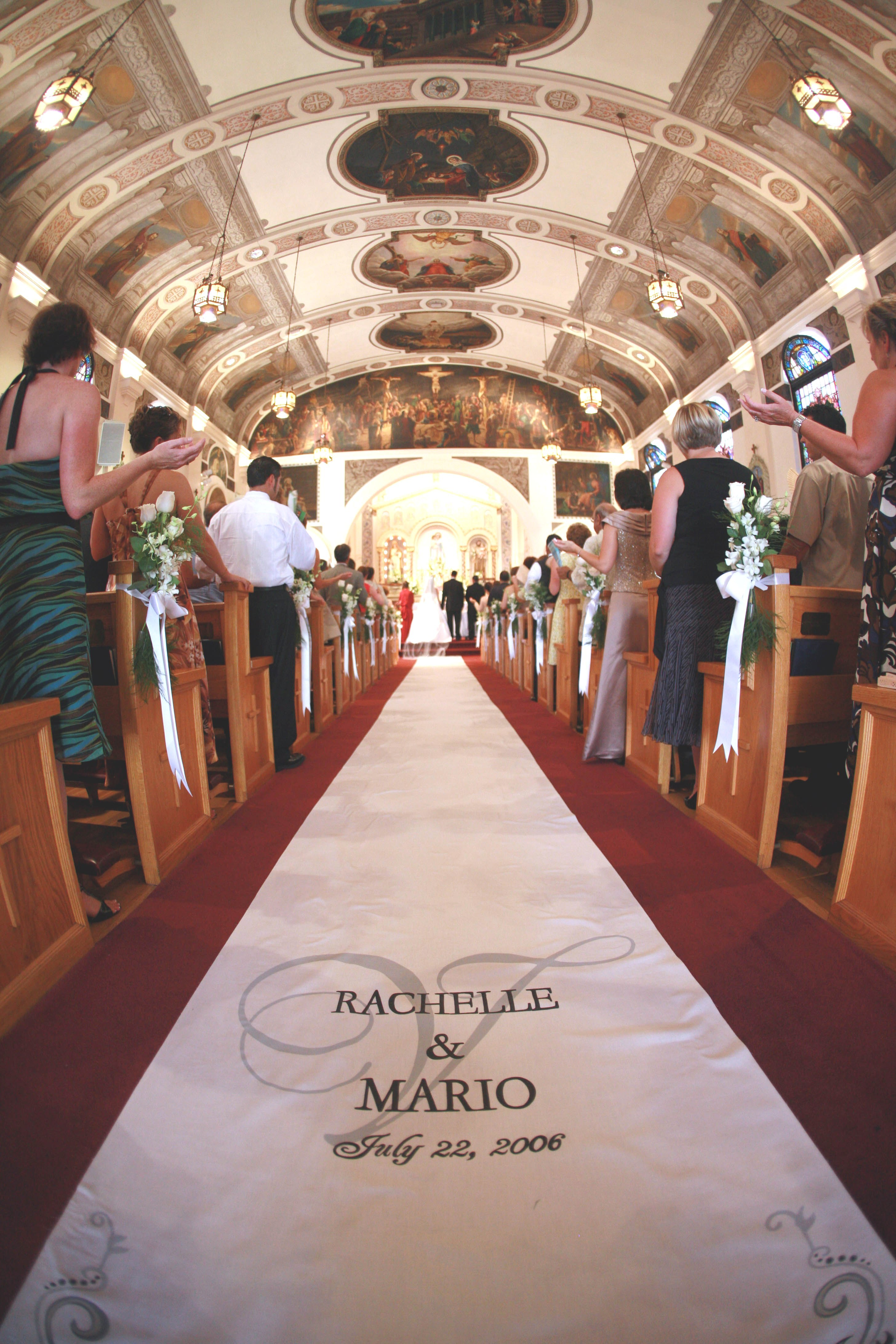 Ceremony, Flowers & Decor, Decor, Stationery, invitation, Classic, Classic Wedding Invitations, Invitations, Monogram, Aisle, Design, Elegance, Runner, Brocade