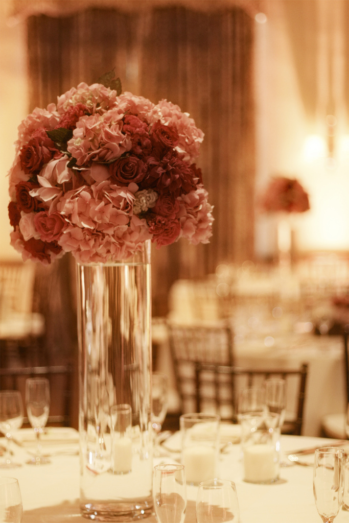 Reception, Flowers & Decor, Centerpieces, Flowers, Centerpiece, Wedding, Banquet, Details, Vanessa lam photography