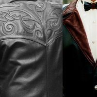 Fashion, red, black, Men's Formal Wear, Roses, Groom, Wedding, Tuxedo, Forest, Leather