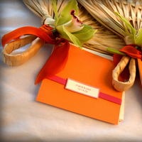 Stationery, orange, pink, Modern, Ceremony Programs, Programs, Wedding, Tropical, Fan