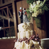 Cakes, white, red, black, cake, Roses, Wedding, De, Forest, Los, Dia, Muertos
