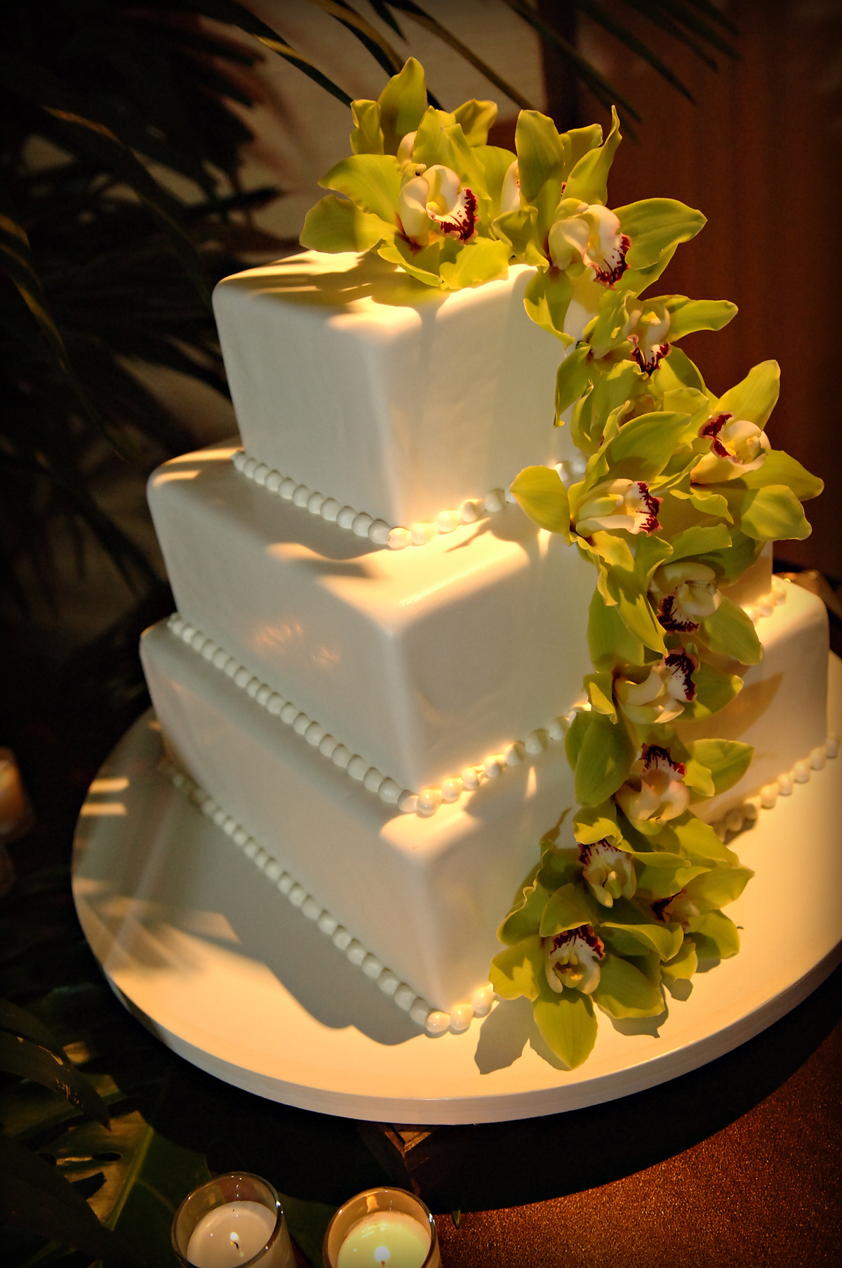 Cakes, white, green, cake, Modern, Modern Wedding Cakes, Wedding, Tropical