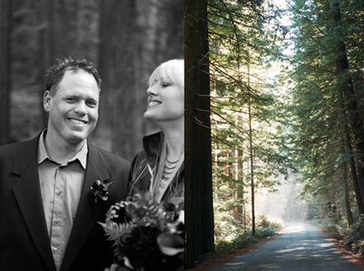 red, Roses, Wedding, Forest