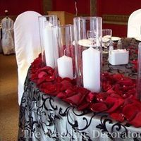 Flowers & Decor, Decor, Tables & Seating, Candles, Bridal, Candle, Table, Rose, Petals, Head, Tables, Light, Overlays, The wedding decorators inc
