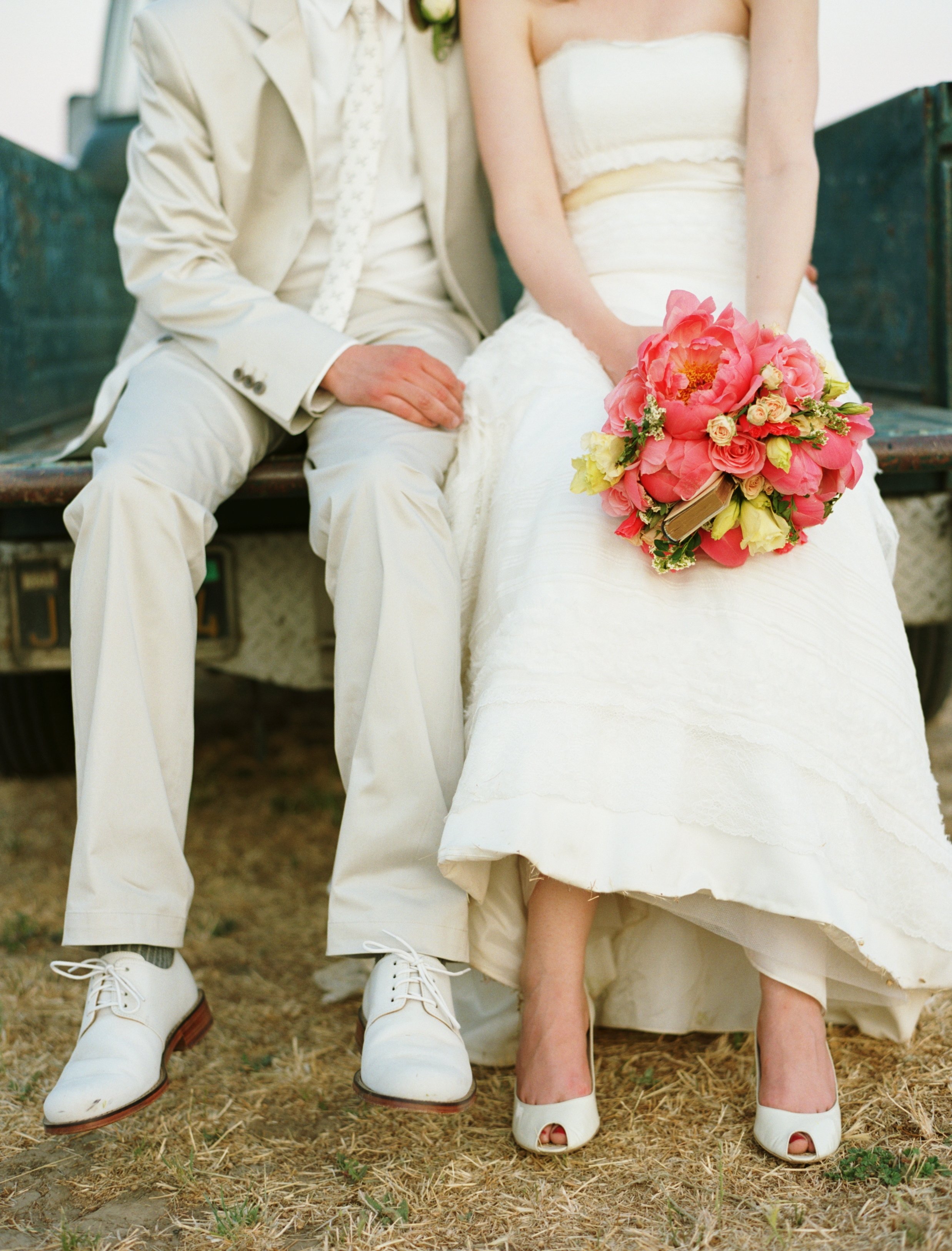 white, pink, Wedding, Farm