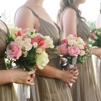 Bridesmaids, Bridesmaids Dresses, Bridesmaid Dresses, Fashion, white, pink, Wedding party, Wedding, Farm