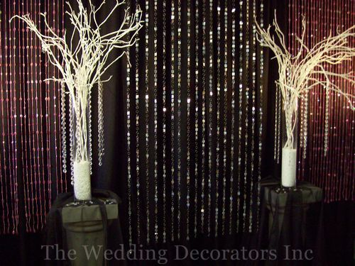 Centerpiece, Hanging, Crystal, Backdrops, Arrangements, The wedding decorators inc