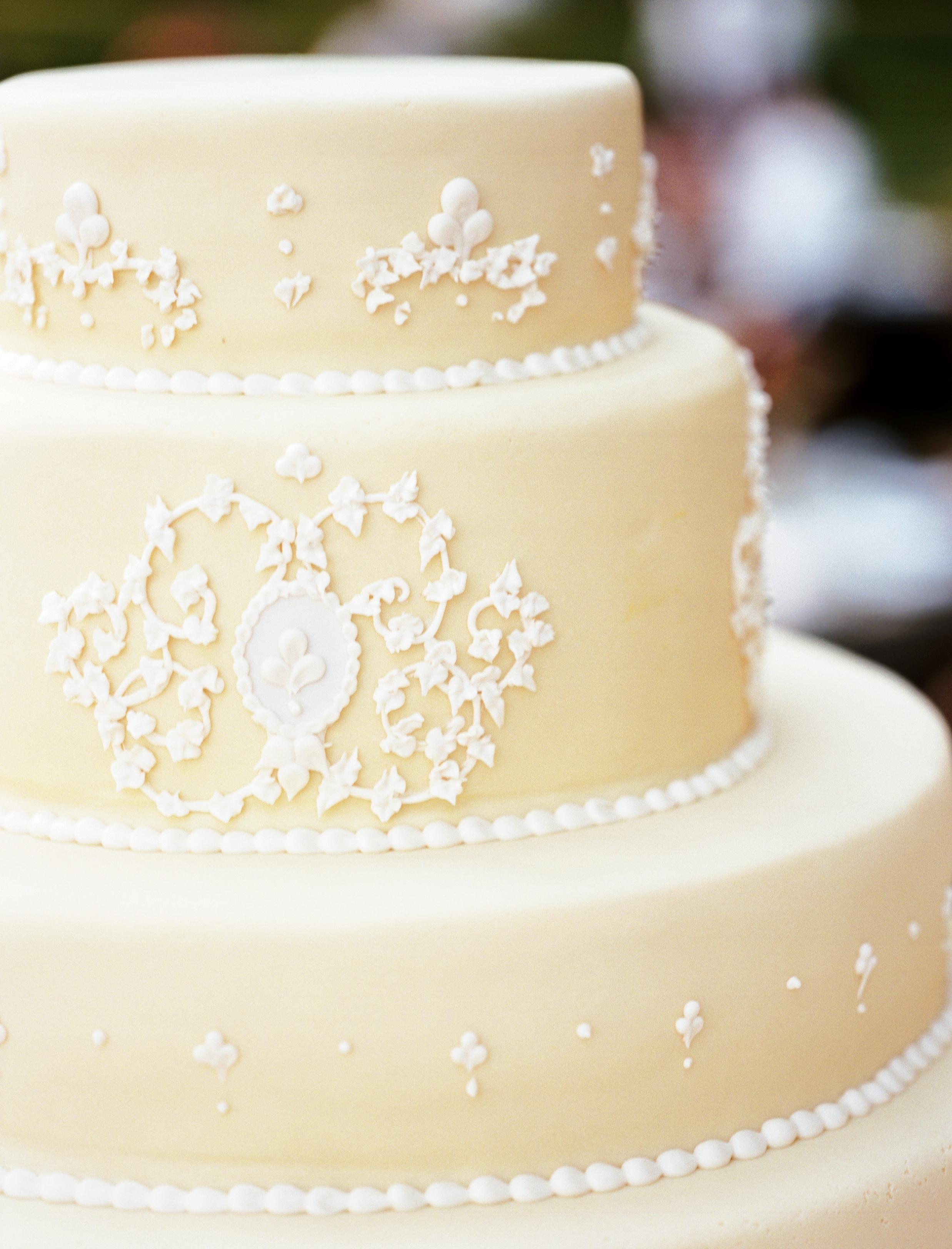 Reception, Flowers & Decor, Cakes, white, pink, cake, Wedding, Farm