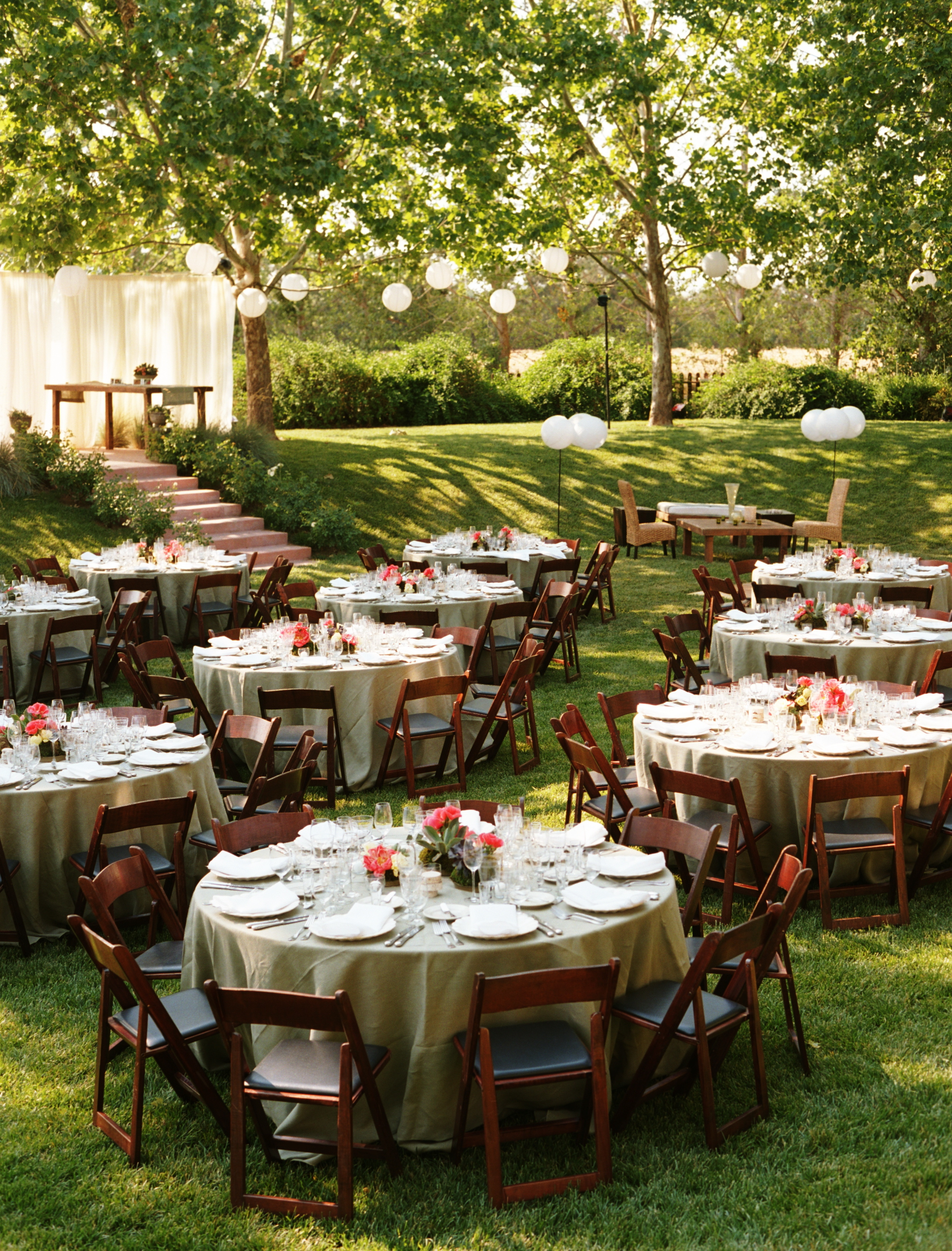 Reception, Flowers & Decor, Decor, white, pink, Wedding, Farm, Paper lanterns