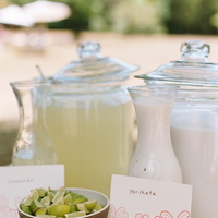 Reception, Flowers & Decor, Destinations, pink, North America, Drinks, Wedding, Napa, Lemonade, Dogwood, Napa valley, Horchata