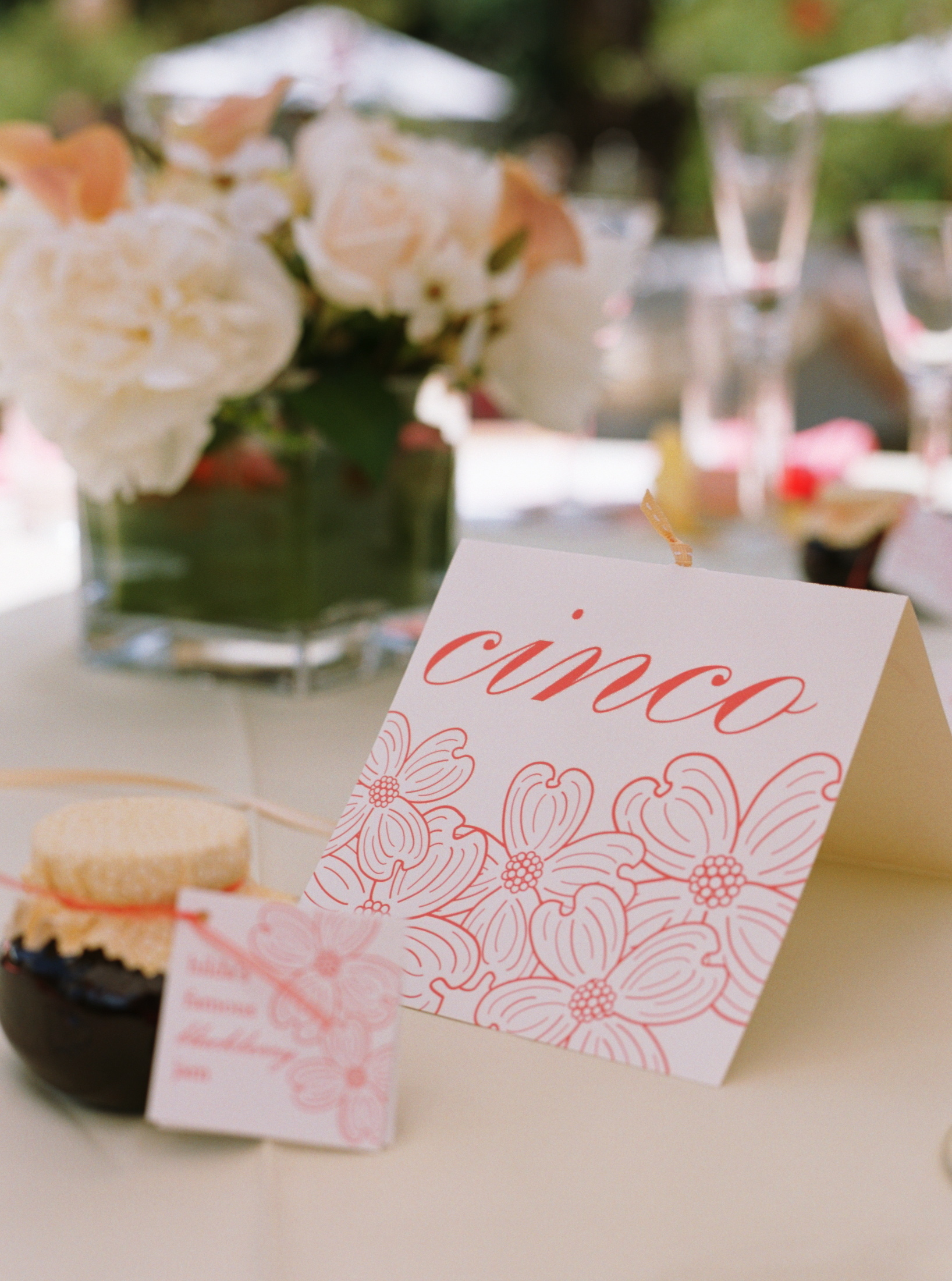 Reception, Flowers & Decor, Decor, Stationery, Destinations, pink, North America, Table Numbers, Wedding, Table number, Napa, Dogwood, Napa valley