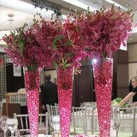 pink, Centerpieces