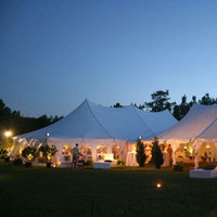 Reception, Flowers & Decor, Lighting, Tent, Outdoors, Country, Night, Dana goodman weddings