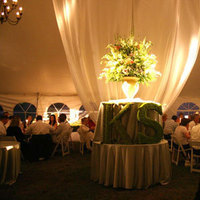 Reception, Flowers & Decor, Decor, Lighting, Flowers, Monogram, Tent, Dinner, Dana goodman weddings, Sit-down