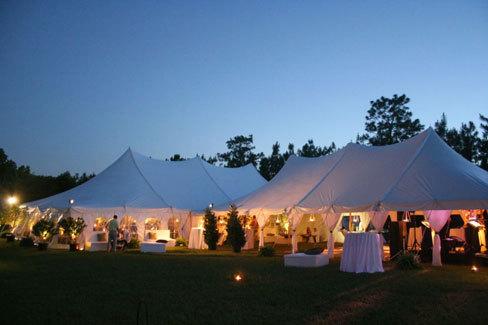 Reception, Flowers & Decor, Lighting, Tent, Outdoors, Country, Night, Dana goodman weddings