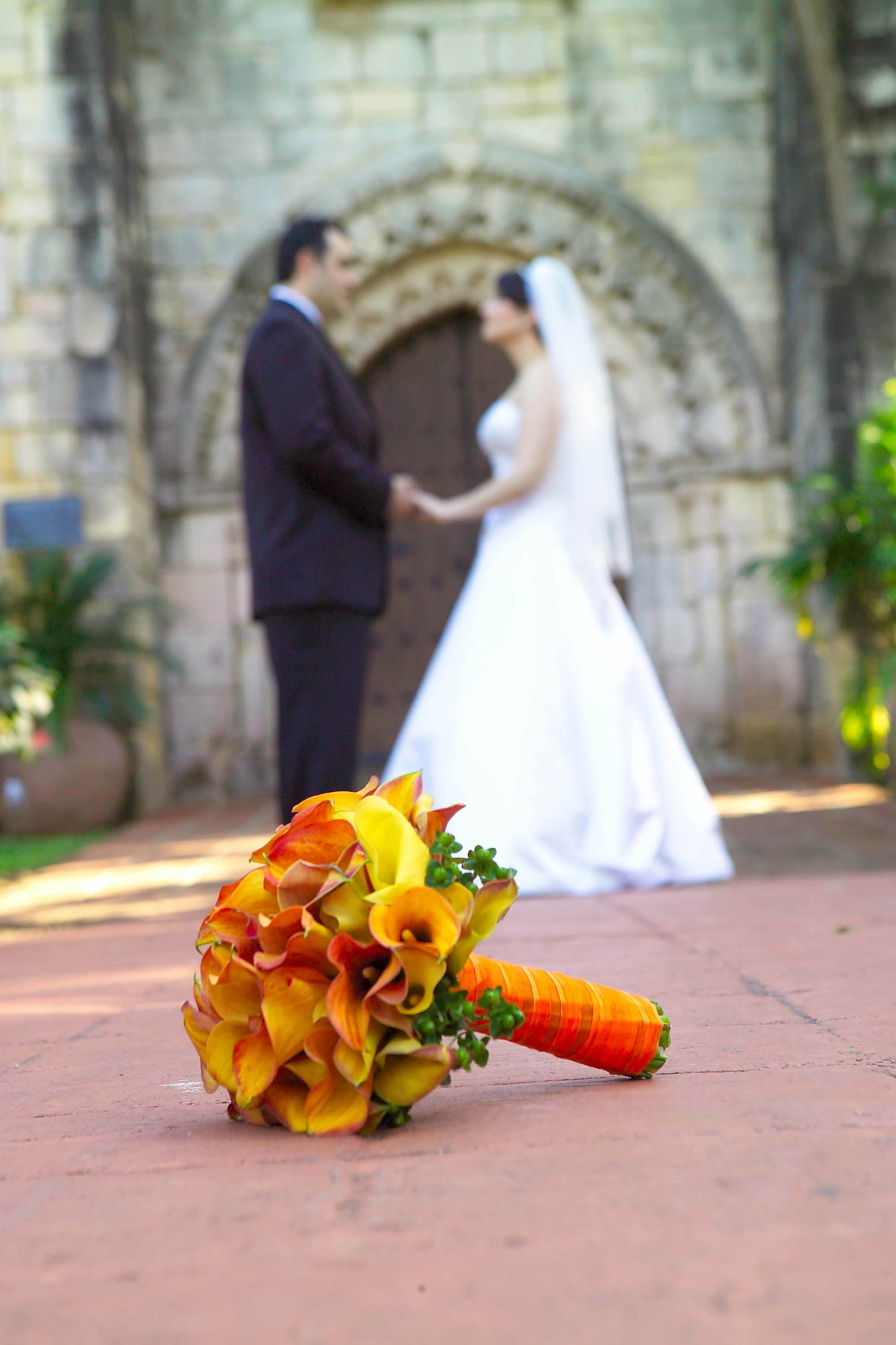 orange, Bouquet, Calla, Tc event design