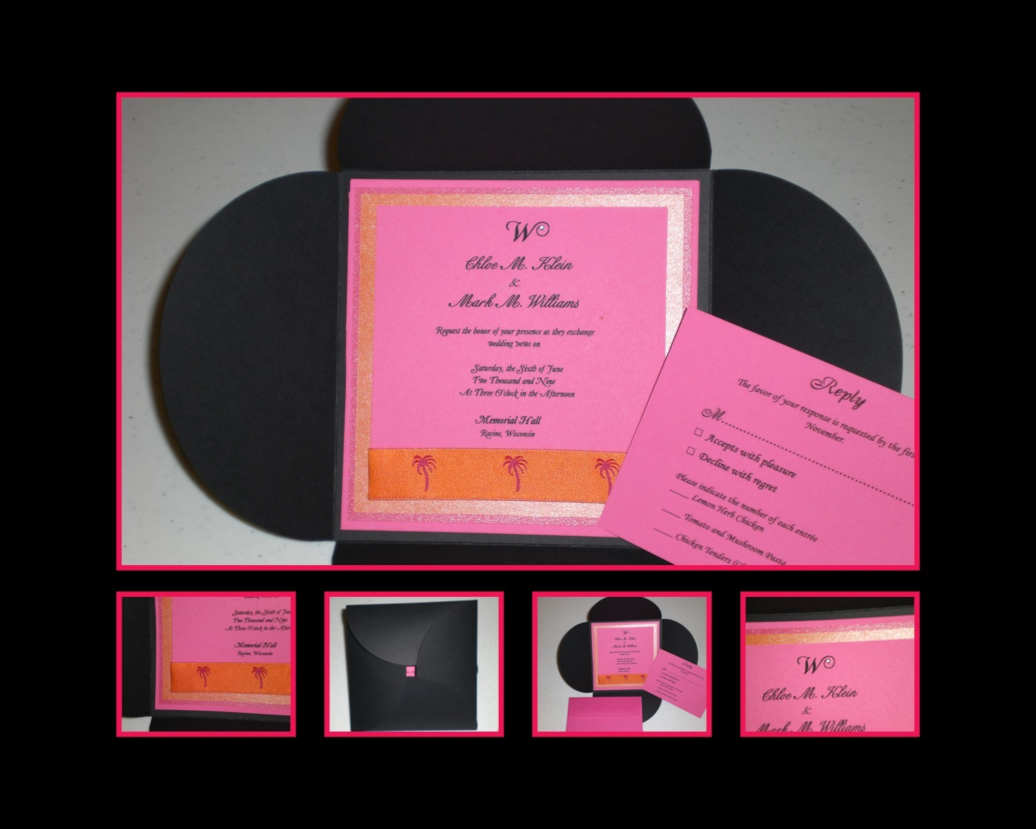 pink, Wedding, Beach, invitation, Destination, Designs, Summer, Louise, T, Stationery, Beach Wedding Invitations, Destinations, Invitations